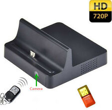 SPY 720P HD Camera Hidden DV Camera Phone Charging Dock DVR Motion Detection Cam