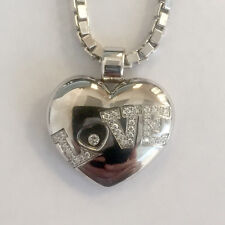 Chopard Happy Diamond Love Heart Pendant & Venetian Chain