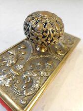 Vintage Brass  Desktop Ink Blotter  ref 2167