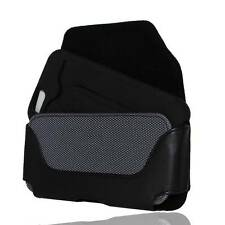 Kuteck Black Faux Leather Pouch Belt Clip For IPhone 6 w/ Thick Hybrid Case On