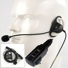 D-Shape Earpiece/Headset Boom Mic For Kenwood Radio Walkie Talkie Hand Free VOX