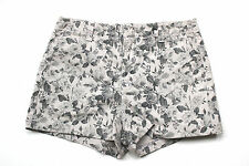 J Brand Lola Floral Print Stretch Cotton Shorts 27
