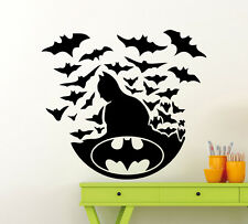 Batman Logo Wall Decal Superheroes Vinyl Sticker Comics Decor Mural (389xx)