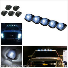 5x Smoked Lens/Super White T10 LED Cab Top Roof Running Clearance Marker Lights