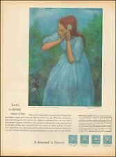 1960's Vintage ad A diamond is forever DeBeers Consolidated Mines LTD.  (102616)