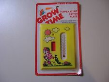 GROW TIME TEMPERATURE SWITCH PLATE - NEW IN ORIGINAL CASE AND PACKAGING
