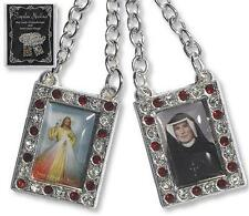 Divine Mercy Chain Scapular + Rosary + Holy Cards + Medals + Green Scapular