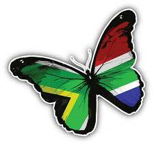 South Africa Grunge World Flag Butterfly Car Bumper Sticker Decal 5'' x 5''