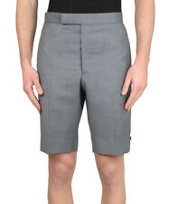 AUTHENTIC THOM BROWNE SHINE GREY TAILORED FORMAL / CASUAL SHORTS 2