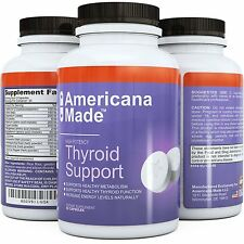 (3x) Lots Thyroid Support Supplement by Americana Made 60 capsules EXP 3/17