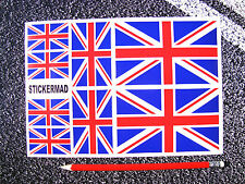 8 x union jack stickers / autocollant ensemble ralliement Motorsport moto casque Angleterre
