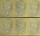 SNOW SCENES GOLD PEEL OFF CHRISTMAS STICKERS - 2 SHEETS