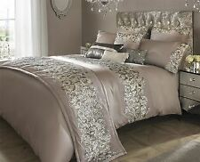 KYLIE MINOGUE PETRA NUDE SATIN SEQUIN KING SIZE 200TC 100% COTTON DUVET COVER