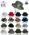 Bucket Hat Boonie Hunting Fishing Outdoor Cap Washed Cotton NEW W STRINGS