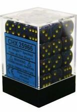 Chessex Dice d6 Sets Twilight Speckled Blue Yellow 12mm Six Sided Die CHX 25966