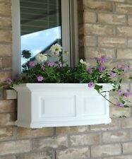 "New Mayne Nantucket 24"" Window Box Outdoor Flower Planter - White 2'"