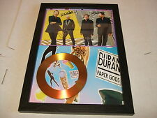 DURAN DURAN  SIGNED FRAMED GOLD CD  DISC PAPER GODS 2