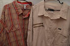 Lot of (2) Roca Wear Long & Short Sleeve Button Shirt Size 6X