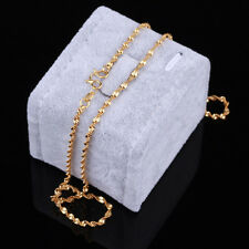 New Fashion Clasp Waves Jewelry 24K gold Yellow Filled plated Necklace Chain