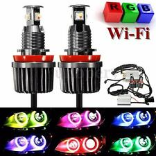 2pcs H8 LED WIFI Control RGB Color Angel Eyes Halo Light For BMW E90 E92 E93 X5
