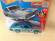 Hot Wheels New Toy Model Car 10/10 '69 Mercury Cyclone Blue with Flames Sealed