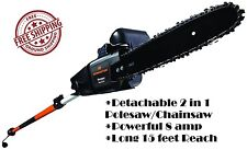 Electric Pole Saw Chainsaw Tree Branch Cutter Telescoping Chain Polesaw Arborist