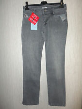 BNWT Ladies Size 10 Regular Grey Patterned Pockets Skinny Jeans By Look RRP £43