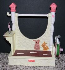 Fisher Price Loving Family Twin Time Dollhouse Flower Garden Potting Bench Hose