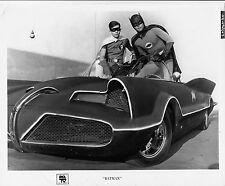 Photo originale Burt Ward Adam West  Batman Robin Lincoln Futura Batmobile