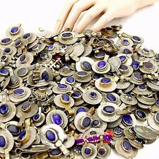 40 real Jeweled COINS Tribal BellyDance Kuchi Tribe - DEEP BLUE Color