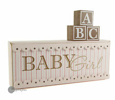 Shabby chic ' Baby Girl ' Nursery Plaque Decoration Gift CG411G
