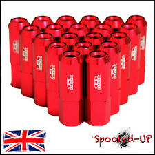 BLOX FORGED ALUMINIUM ALLOY WHEEL LUG NUTS JDM 60MM M12x1.5 - RED