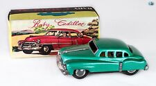 Awesome Japanese 1940s Baby Cadillac Friction Tin Toy Car with Box