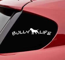 Bully life pitbull vinyl decal sticker bumper funny pit bull dog pet puppy leash