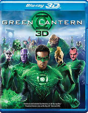Green Lantern 3D Blu-ray DVD 2011 3-Disc Set Extended Cut Lenticular Slipcover