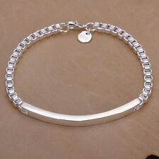 Women's Wrist Band Jewelry 7 9/10in / NEW pl. with Sterling silver DA079 T A
