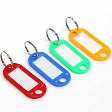 Wholesale Multicolor Plastic Keychain Key Tags ID Label Name Tags Split Ring 10X
