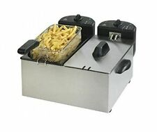 Team Double Deep Fat Fryer - Stainless Steel - Model F27M - NEW