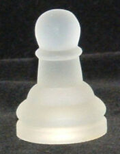 Glass Chess Replacement Piece Frosted One Pawn 1 5/8""