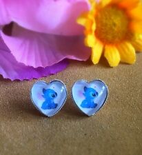Disney Lilo And Stitch Heart Shaped Halloween Stud Earrings 12mm