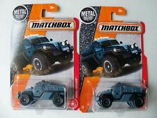 MATCHBOX DIECAST LOT OF TWO MILITARY POLICE ARMY ARMORED CAR GRAY VHTF NIP