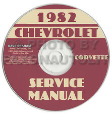 1982 Corvette Shop Manual CD Repair Service Books on CD-ROM Chevrolet Chevy