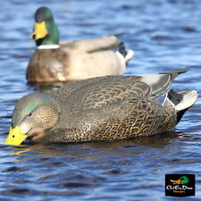 AVERY GREENHEAD GEAR LS PRO GRADE HYBRID BLACK DUCK MALLARD FEEDER DECOYS PAIR
