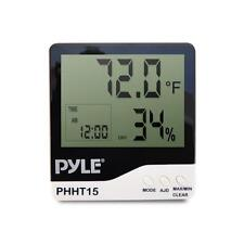 Pyle Car Audio PHHT15 New Indoor Digital Hygro Thermometer W/ Clock Display