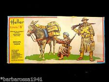 WWII 1:35 Rare 1977 Heller FRENCH MOROCCAN INFANTRY Tabor Battle Groupe FRANCE