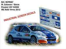 DECALS 1/43 PEUGEOT 207 S2000 - #7 SOLOWOW - RALLYE IRC D'YPRES 2013 - NCM087