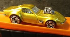 Hot Wheels CUSTOM 68 Corvette Gas Monkey Garage with Redline Real Riders Loose