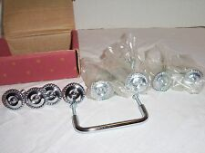 "8 CHROME CABINET 1-1/4"" BRAIDED EDGE KNOBS AND 1 PULL BROADWAY COLLECTION NEW"