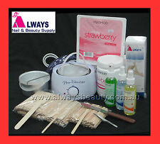 Beauty Waxing Pot Heater Kit 500ml Pot + Extra Insert Strawberry Hard Strip Wax