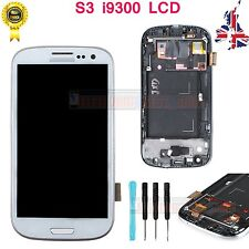 For Samsung Galaxy S3 I9300 LCD Touch Screen Digitizer Replacement + Frame White